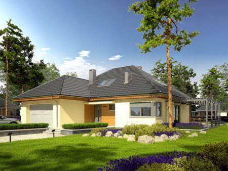 Мансардный дом M009 -331,61 м²