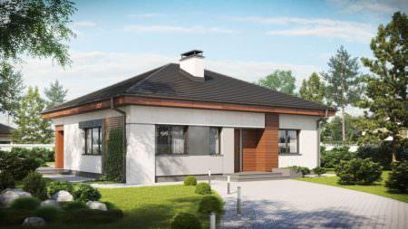 Одноэтажный дом B019
