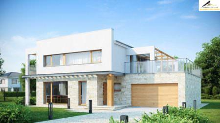 Двухэтажный дом P008