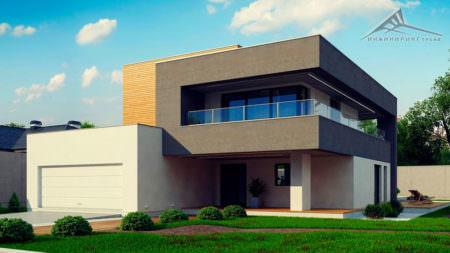 Двухэтажный дом P003