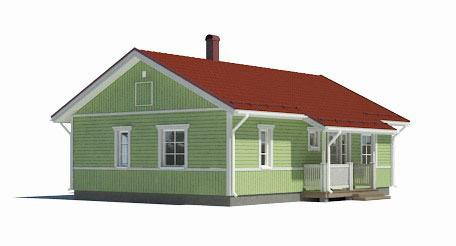 Одноэтажный дом B002 -102 м²