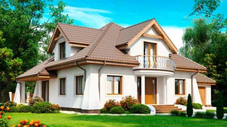 Мансардный дом M001 -253 м²