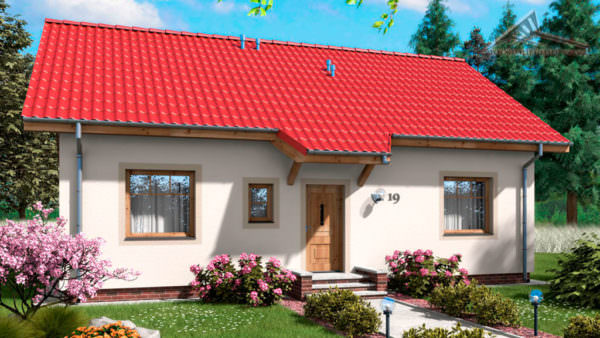 Одноэтажный дом B017 -64 м²
