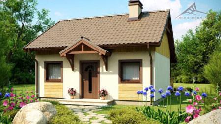 Одноэтажный дом B010 -48 м²