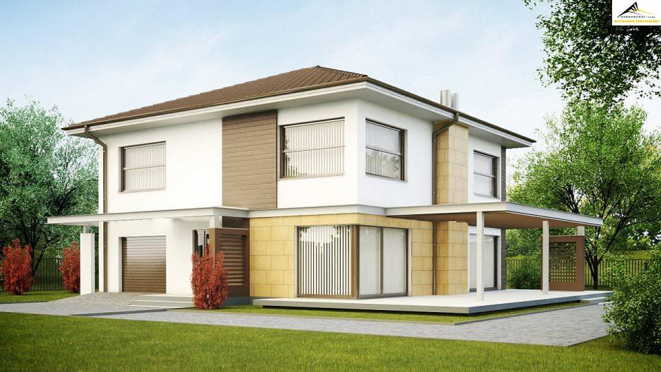 Двухэтажный дом P010