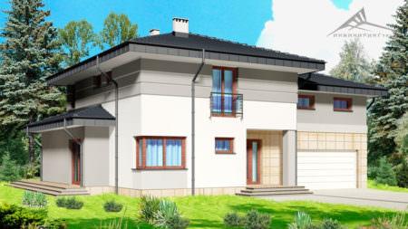 Двухэтажный дом P001