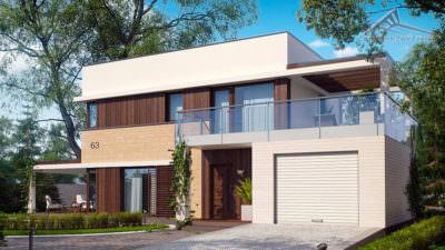 Двухэтажный дом P005