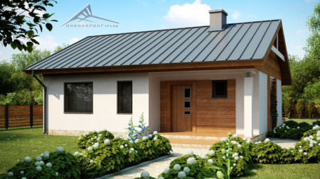 Одноэтажный дом B009 -80 м²