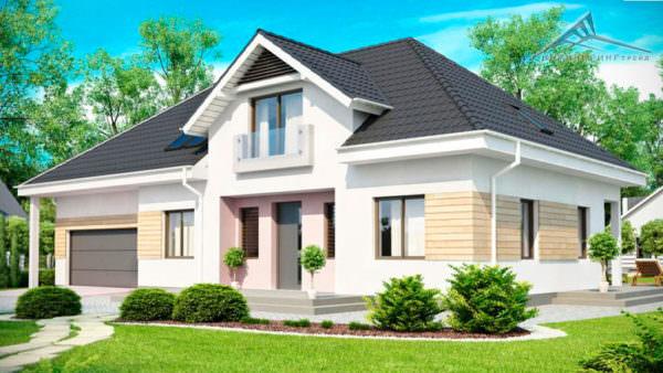 Мансардный дом M002 -275 м²