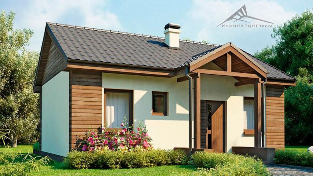 Одноэтажный дом B006 -53 м²