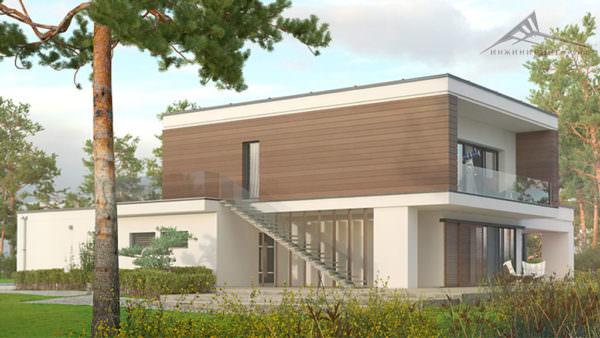 Двухэтажный дом P004