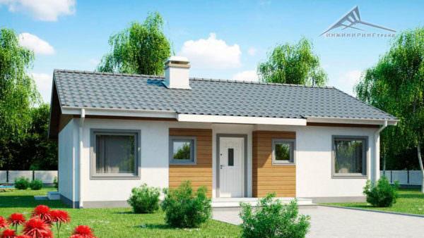 Одноэтажный дом B012 -90 м²