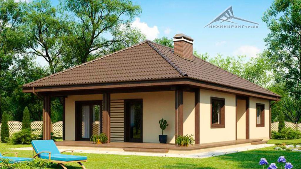 Одноэтажный дом B011 -100,85 м²