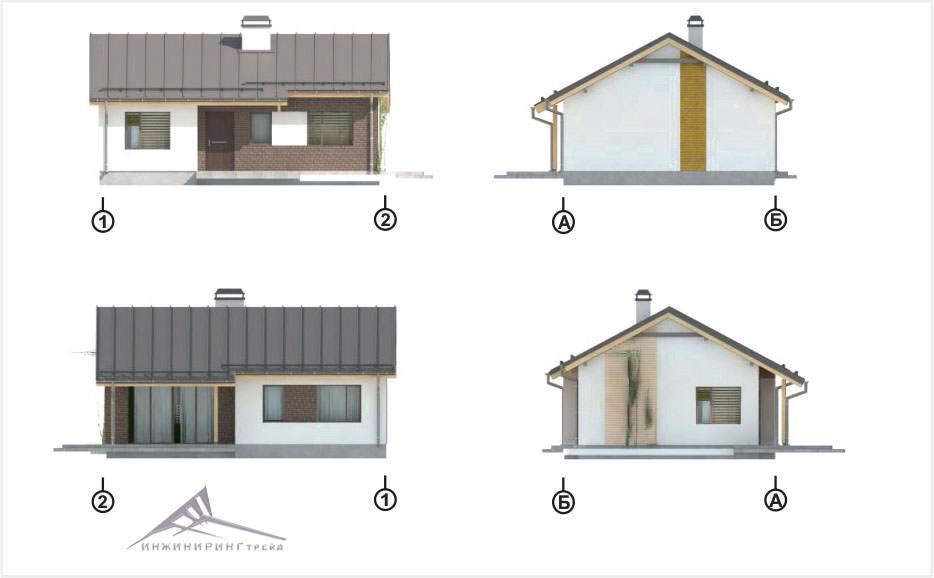 Одноэтажный дом B005 -66,8 м²
