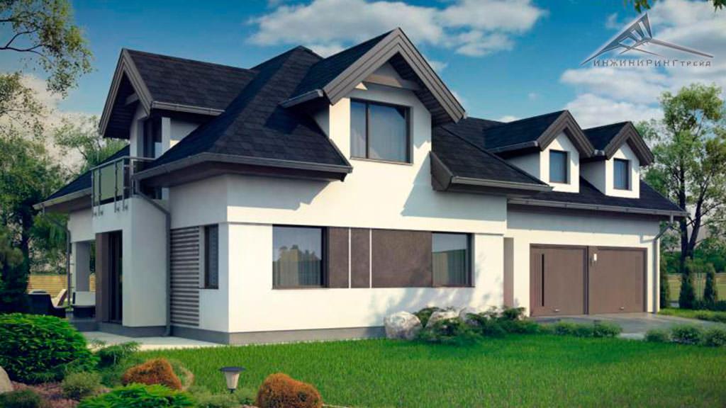 Мансардный дом M003 -260 м²
