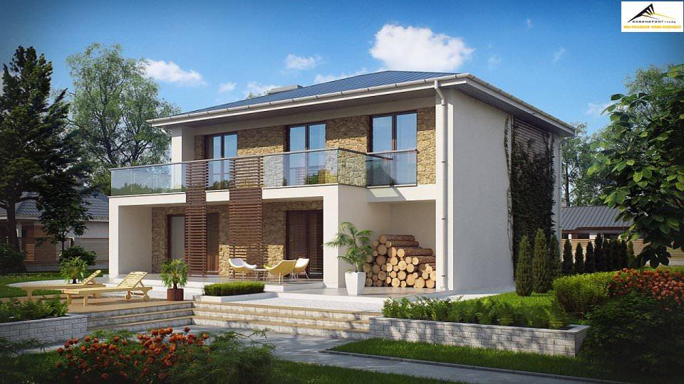 Двухэтажный дом P009