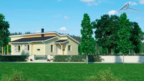 Одноэтажный дом B003 -160 м²