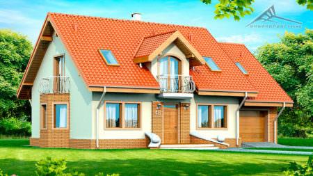 Мансардный дом M006 -197 м²