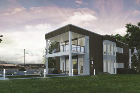 Двухэтажный дом P013