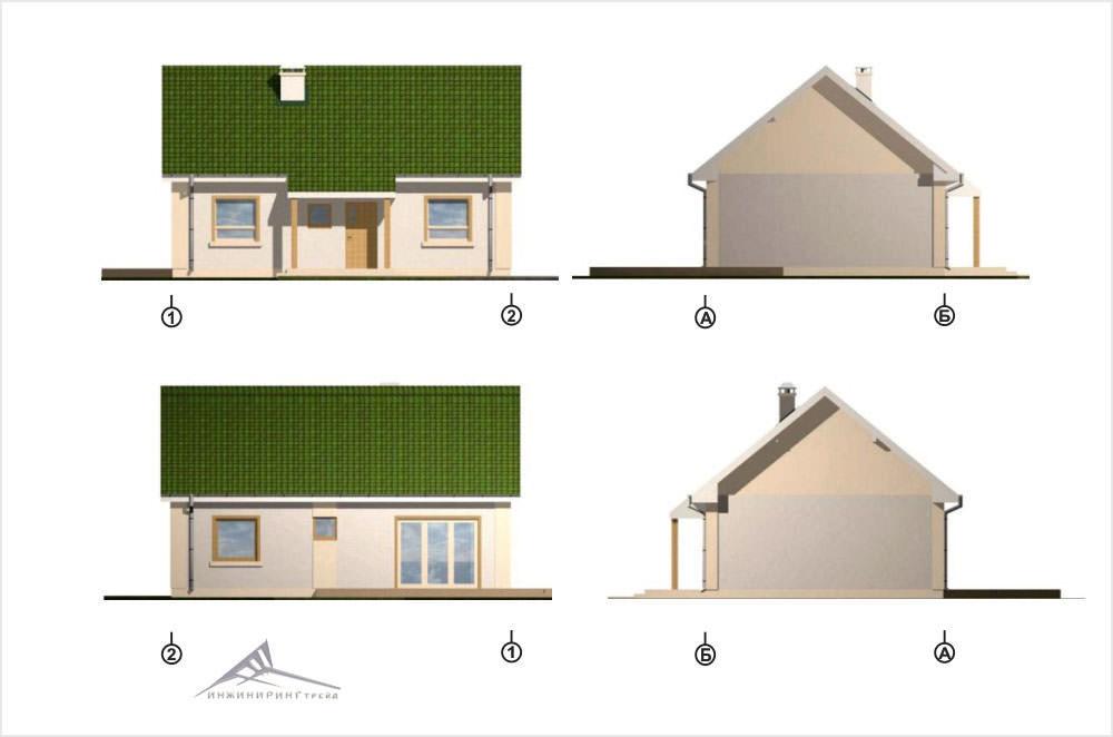 Одноэтажный дом B004 -70,4 м²