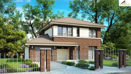 Двухэтажный дом P006