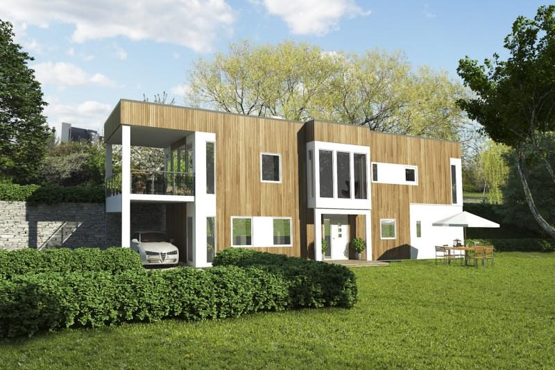 Двухэтажный дом P015