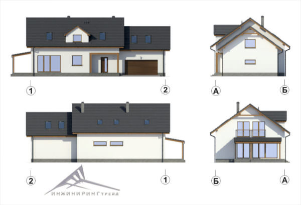 Мансардный дом M010 -260 м²