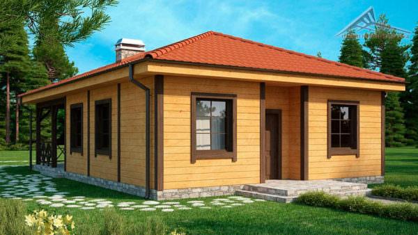 Одноэтажный дом B020 - 89 м²