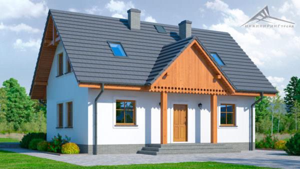 Мансардный дом M008 -131 м²