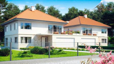 Дом на две семьи H001