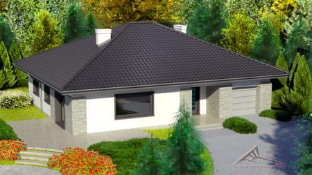 Одноэтажный дом B013 -193 м²