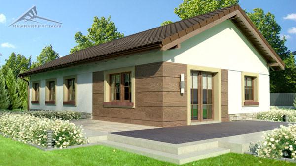 Одноэтажный дом B015 -129 м²