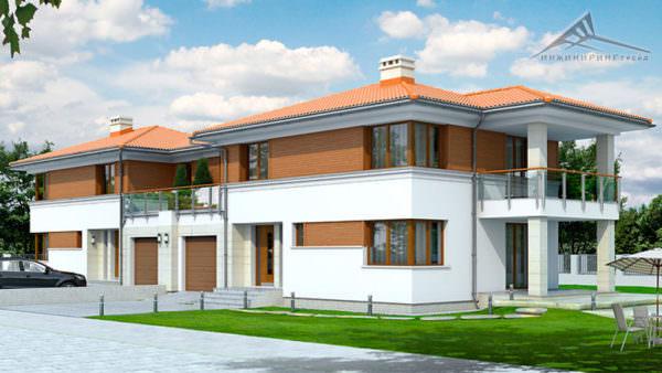Дом на две семьи H006